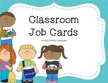 Classroom Job Cards  [Back to School]