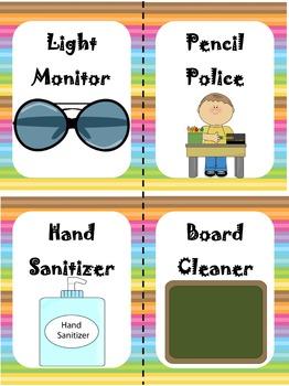 Classroom Job Cards {Rainbow}