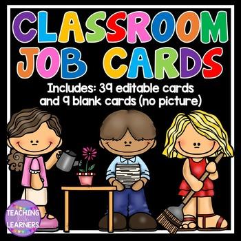 Classroom Job Cards {EDITABLE}