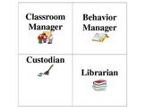 Classroom Job Cards **EDITABLE**