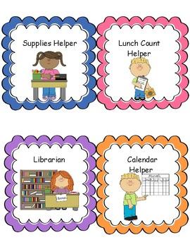 Classroom Job Cards {FREEBIE!}