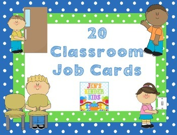 Classroom Job Cards~ FREEBIE