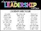Classroom Job Cards - Leadership Roles