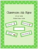 Classroom Job Cards Lime Green