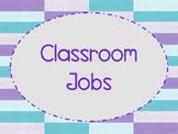 Classroom Job Cards (Purple & Teal Theme)