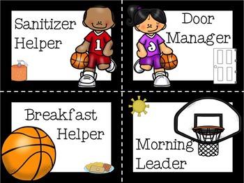 Classroom Job Cards ~ Sports Theme *Editable*