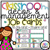 Classroom Job Cards by Kinder Tykes