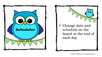 Classroom Job Cards with Duty Checklists
