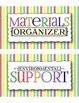 Classroom Job Cards with Sophisticated Titles -- COLORFUL stripes