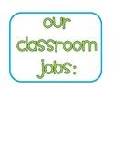 Classroom Job Cart