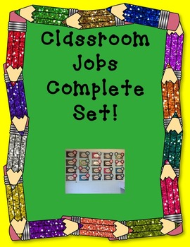Classroom Job Chart!  A complete job chart set for primary grades!