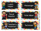 Classroom Job Chart Cards - Teal Yellow Blue Red
