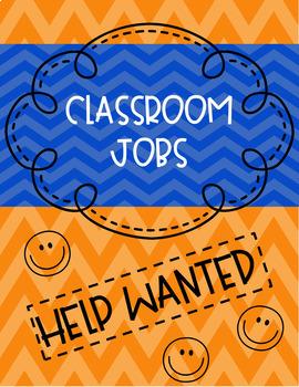 Classroom Job Chart Chevron (Editable)