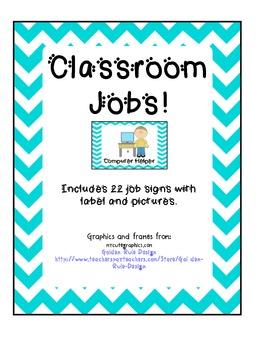 Classroom Job Chart- Chevron Frames