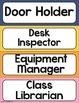 Classroom Job Chart Clip Chart