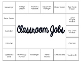 Classroom Job Chart - EDITABLE