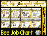 Job Chart - EDITABLE CLASSROOM JOB CHART (BEE THEME CLASSROOM JOB CHART)