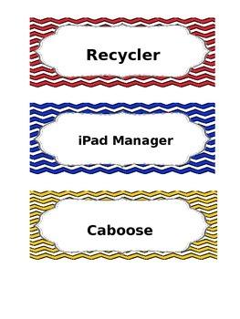 Classroom Job Chart **Editable**