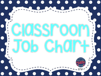 Classroom Job Chart - Navy