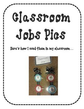 Classroom Job Chart Pictures