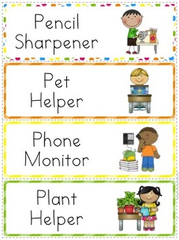 Classroom Job Chart - Seeing Spots Theme {Bright and Polka Dot}