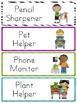 Classroom Job Chart - Super Sassy Theme {Bold and Zebra Print}