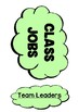 Classroom Job Chart Tree Theme