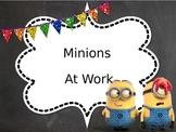 Classroom Job Chart (editable, minion theme)