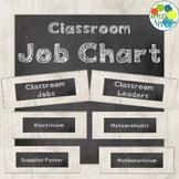Classroom Job Chart in Chalkboard Theme