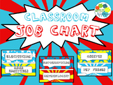 Classroom Job Chart in Comic Book Theme