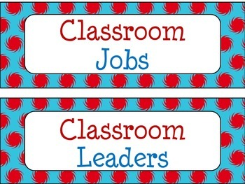 Classroom Job Chart in Primary Color Theme
