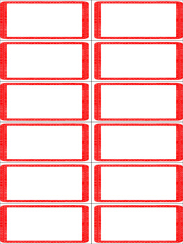 classroom job chart with horizontal red border by abc penguin tpt