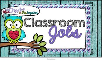 Classroom Job Clip Chart ~Owl Edition~ Legal Size