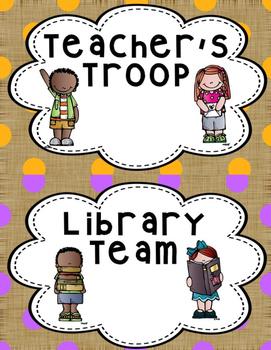 Classroom Job Teams and Crews  Burlap Design
