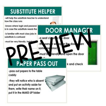Class Job Slides [Editable with Descriptions]