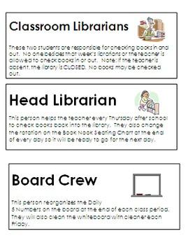Classroom Job Descriptions & Class Job Application (Both Editable)
