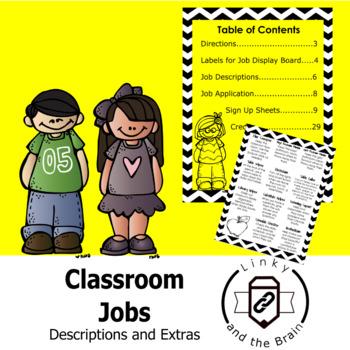 Classroom Job Descriptions and Extras