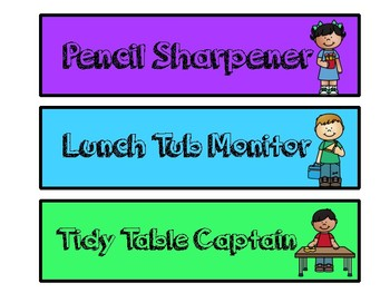 Classroom Job Display
