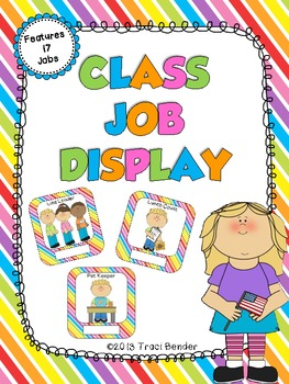 Classroom Job Display {Neon Brights}