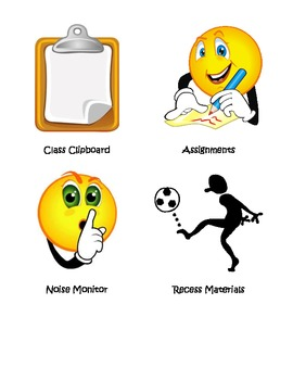 Classroom Job Icons Upper Elementary