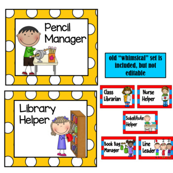 Class Helpers- Whimsical Theme