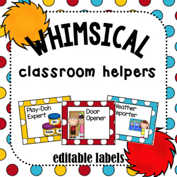 Class Helpers- Whimsical Theme