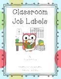 Classroom Job Labels - Updated