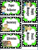 Classroom Job Labels - Polka dot themed