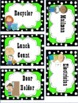 Classroom Job Labels - Polka dot themed