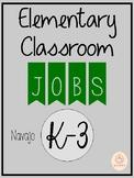 Classroom Job Labels: Navajo
