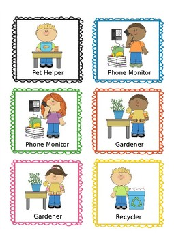 Classroom Job Labels -50 in all! Now Editable!