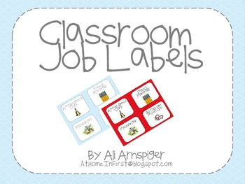 Classroom Job Labels-AtHomeInFirst