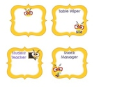 Classroom Job Labels Bee Themed