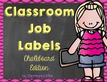 Classroom Job Labels:  Chalkboard Edition